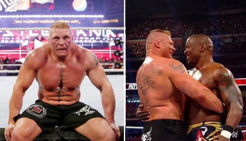 Brock Lesnar and Shelton Benjamin