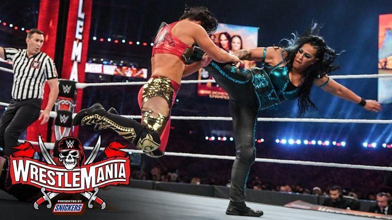 Tamina and Natalya faced Nia Jax and Shayna Baszler at WrestleMania 37 (Credit: WWE)