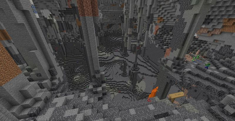 Caves and mountains will see prominent changes (Image via Minecraft)