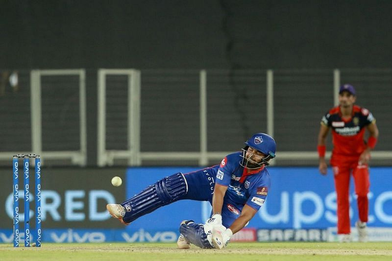 Rishabh Pant looked a little ugly as timing appeared to desert him against RCB.