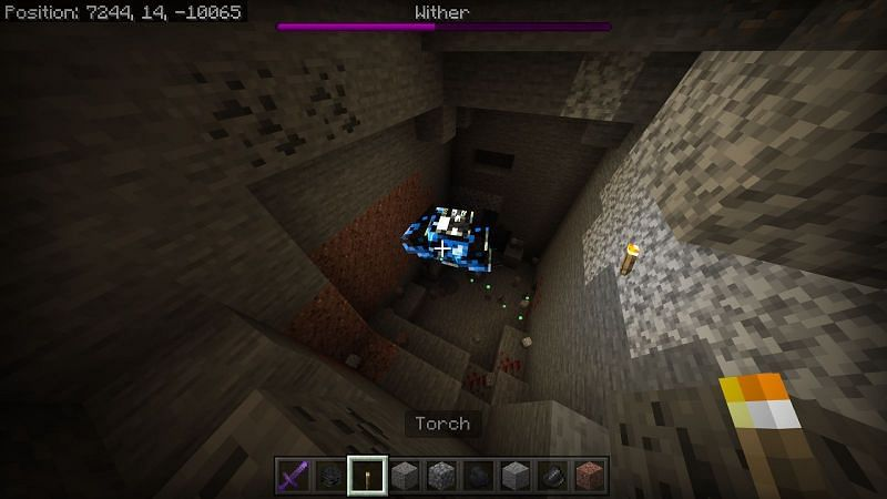 On java edition the wither becomes immune to arrows after it loses half its HP. You will have to use a sword in order to defeat the wither from this point.