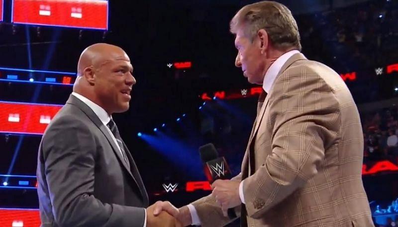 Kurt Angle and Vince McMahon have had their ups and downs (Credit: WWE)