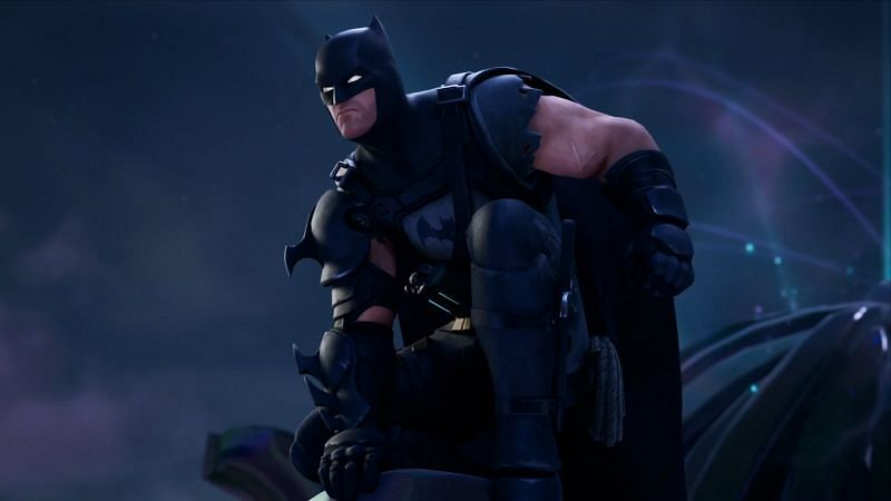 The caped crusader from Fortnite Batman Zero Point Comics in-game (Image via Twitter, iFireMonkey)