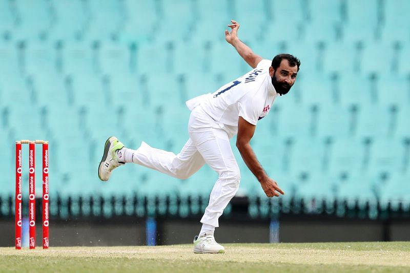 Mohammad Shami in action during a tour game Down Under last year