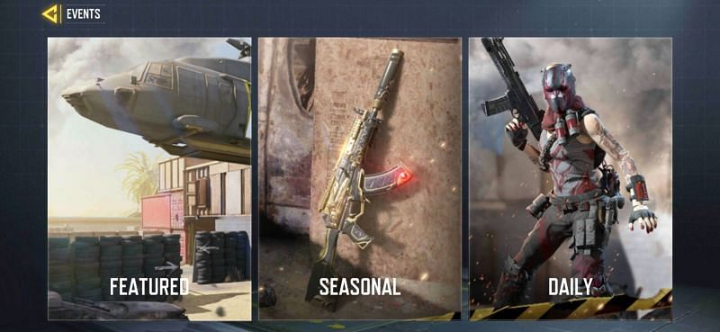Tap on the Featured tab to see the current challenges (Image via Activision)