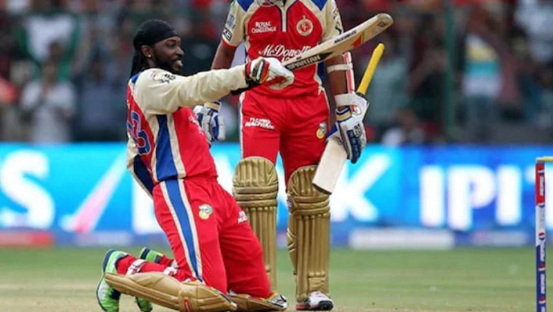 Chris Gayle scored 175* off 66 balls (fastest hundred in IPL history)