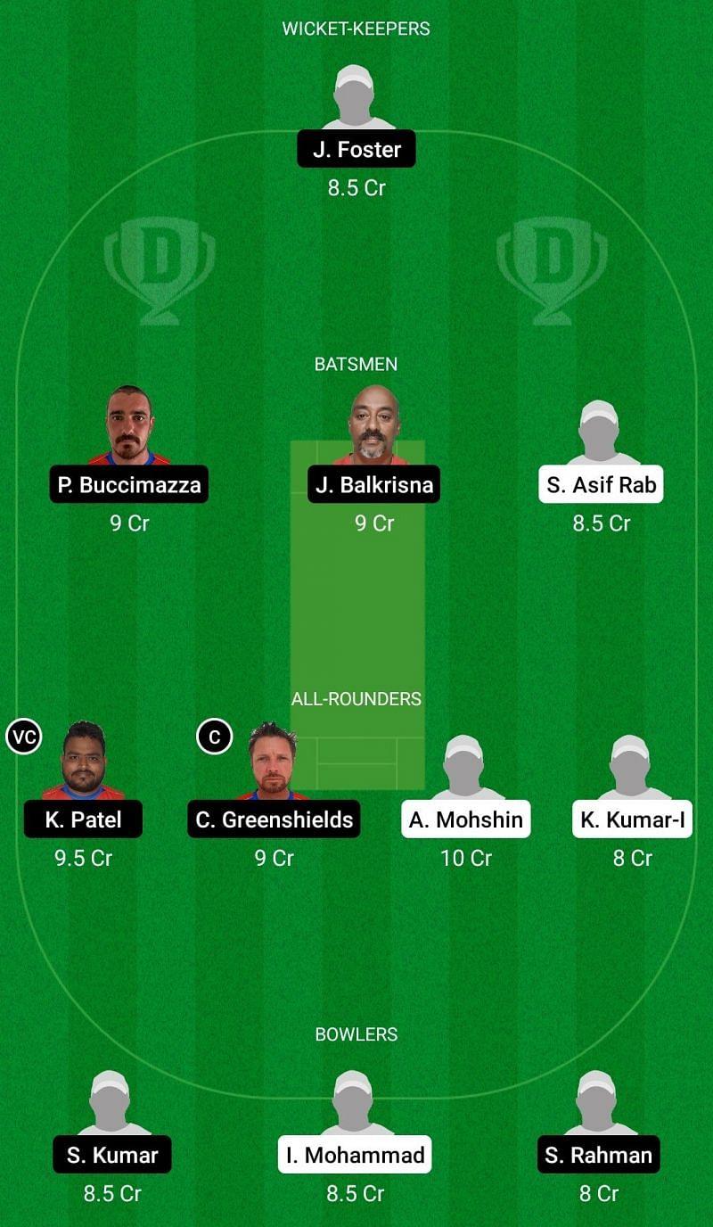 Dream11 Team for Miranda Dragons vs Oeiras - ECS T10 Portugal 2021.