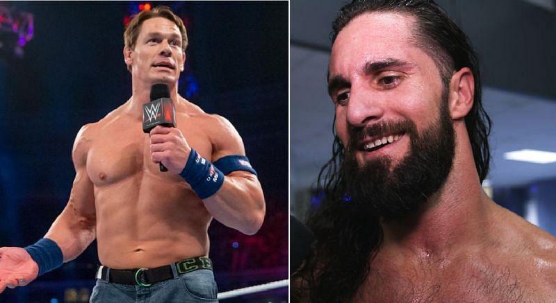 John Cena and Seth Rollins
