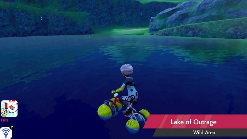 Cross the Lake of Outrage on the upgraded Rotom Bike