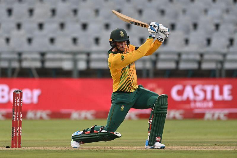 Rassie van der Dussen in the South Africa v England - 1st T20 International