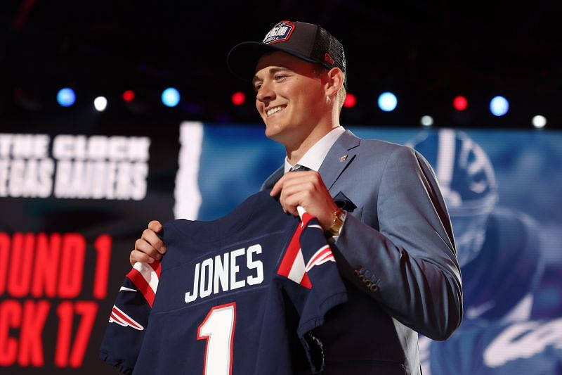The New England Patriots selected Alabama quarterback Mac Jones with the 15th overall pick in the 2021 NFL Draft.