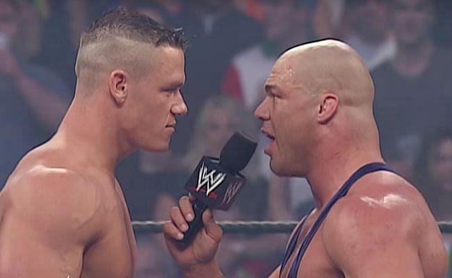 WWE सुपरस्टार जॉन सीना और कर्ट एंगल