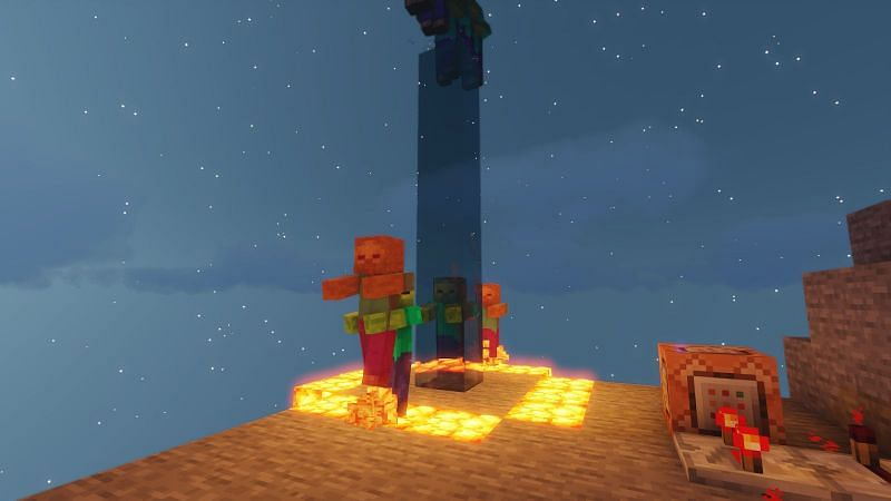 Most Mobs will swim upward while in water however not all of them do.