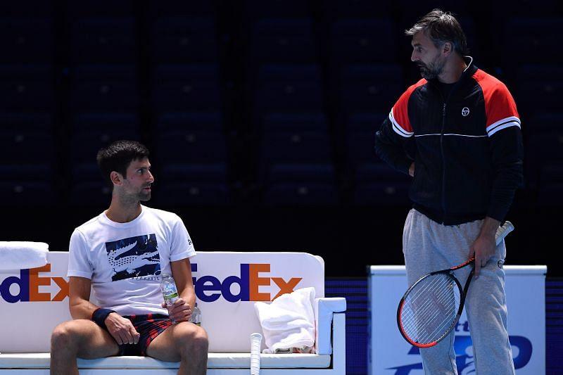 Novak Djokovic with Goran Ivanisevic