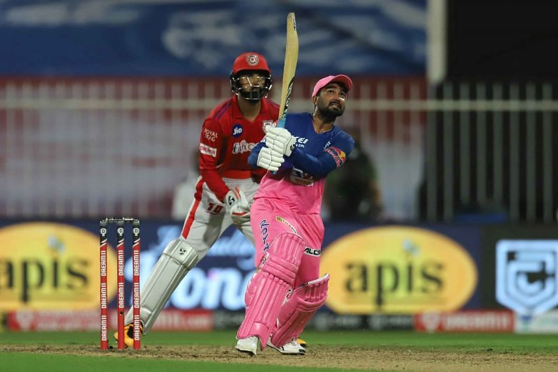 Rahul Tewatia played an epic innings against KXIP(now PBKS) in IPL 2020. (Image Courtesy: IPLT20.com)