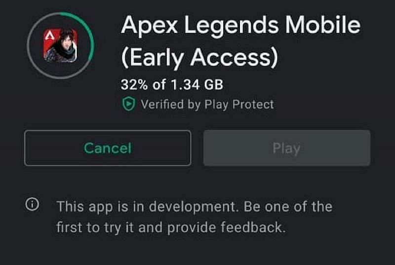 The file size of Apex Legends Mobile is 1.34 GB