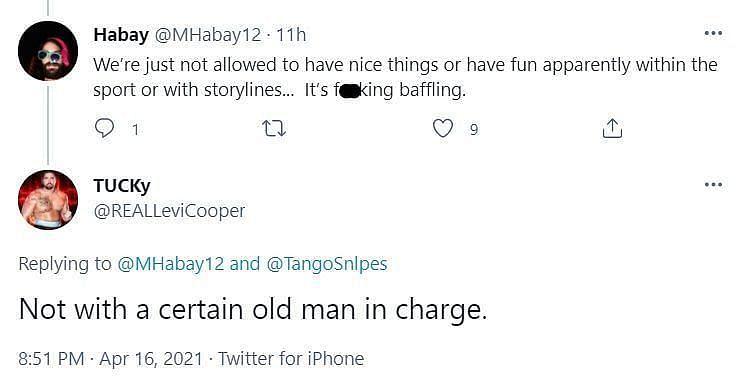 टकर ने फैन को दिया जवाब<p>
