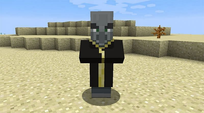 Evoker in Minecraft (Image via sportskeeda)