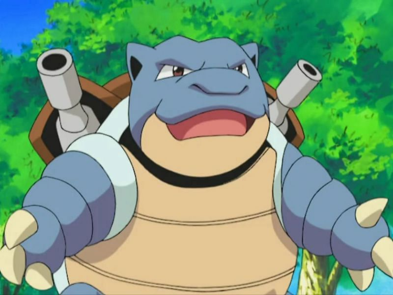 Blastoise in the anime (Image via The Pokemon Company)