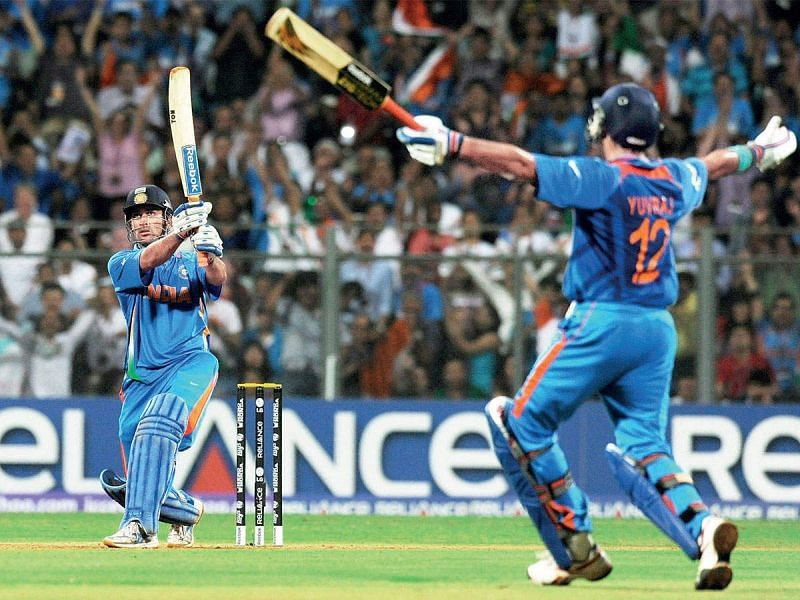 MS Dhoni finished off in style in the 2011 World Cup final