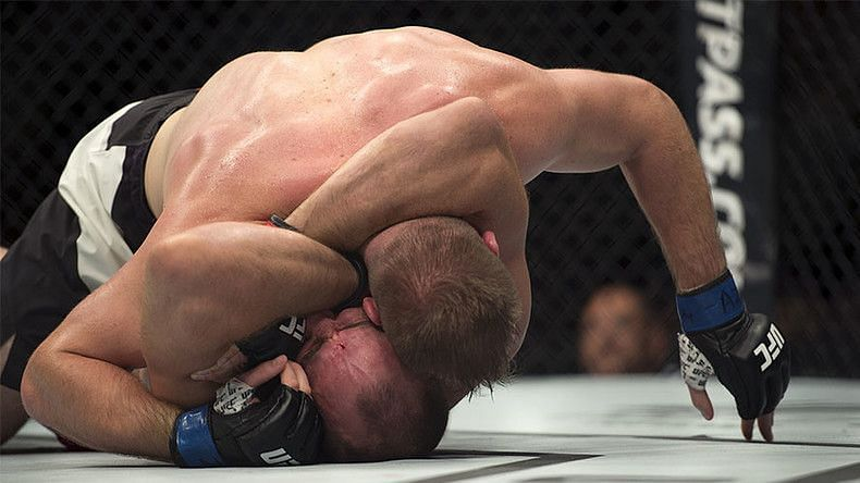 Aleksei Oleinik is the only fighter to use an Ezekiel choke in the UFC.