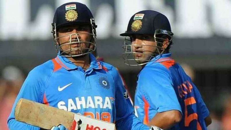 Sehwag and Gambhir had contrasting batting styles