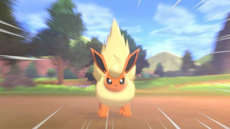 Quick step to catch Flareon in Pokémon Sword and Shield