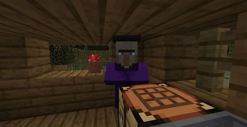 Upon dying, witches can drop one off seven items (Image via Minecraft)