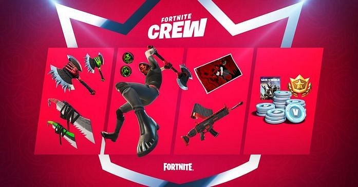 Fortnite Crew May Character Skin, Deimos, Enters the Battlefield {Image via Epic Games}