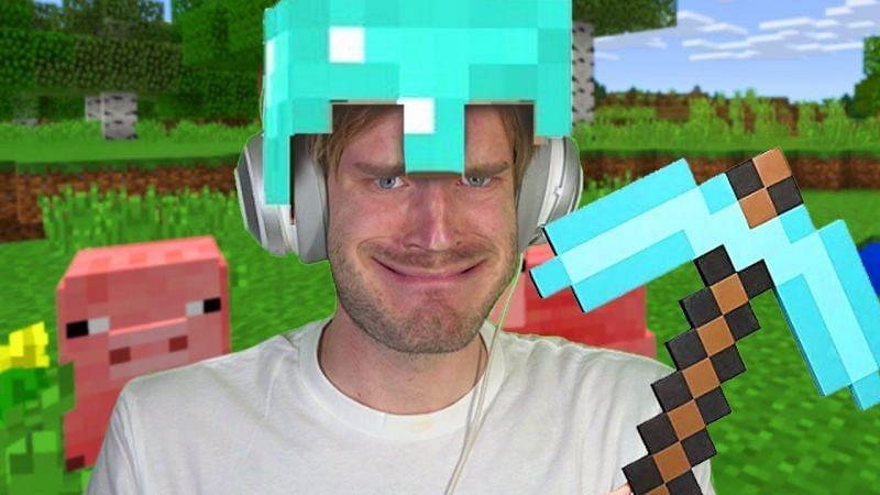 """MINECRAFT"" (Image via PewDiePie on YouTube)"