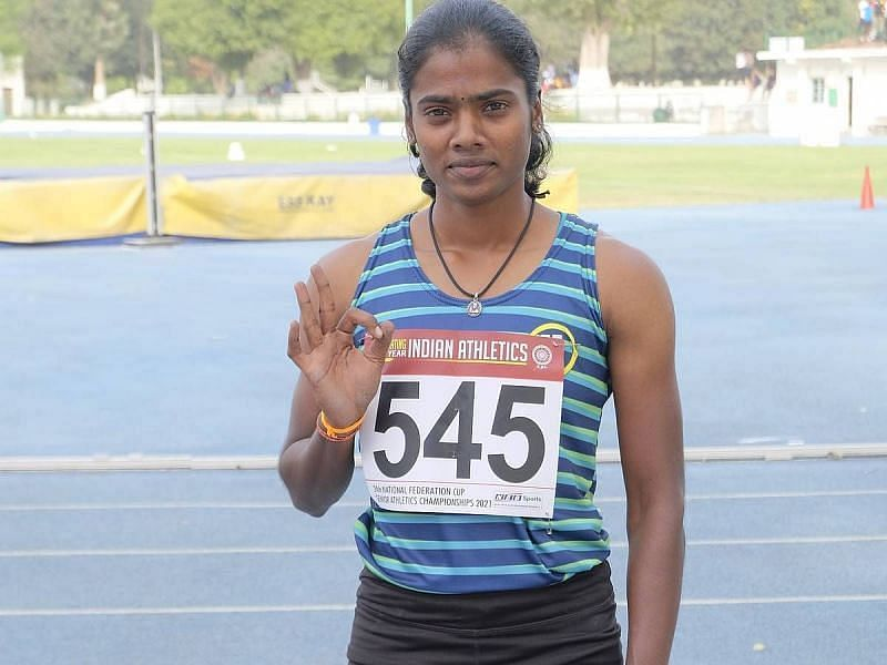 Dhanalakshmi will look to boost her qualification hopes for Tokyo Olympics. (Source: Sportstar)