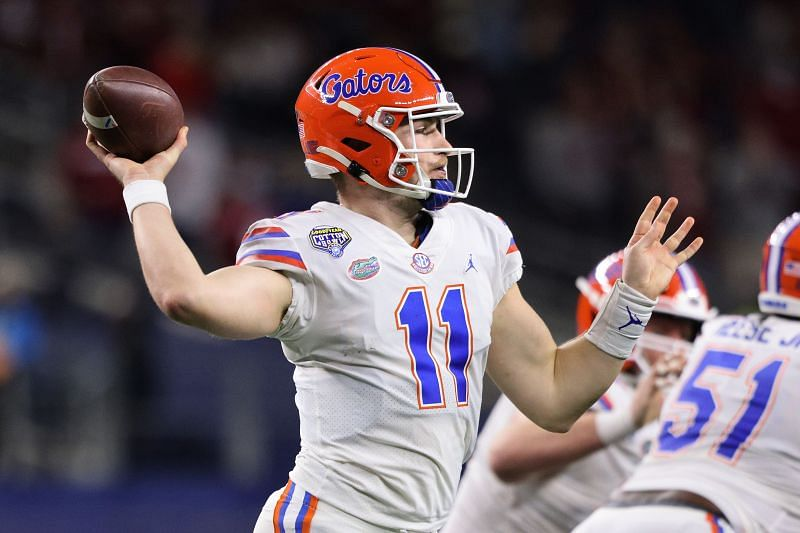 Kyle Trask with the Florida Gators