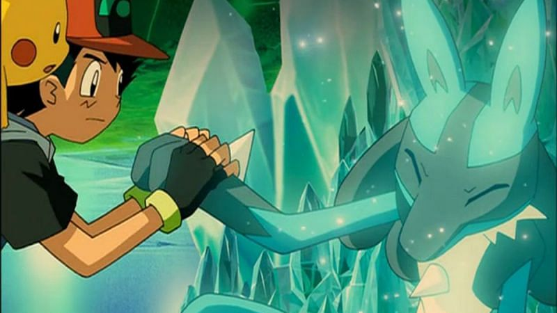 Ash with Lucario and Pikachu in the movie (Image via The Pokemon Company)