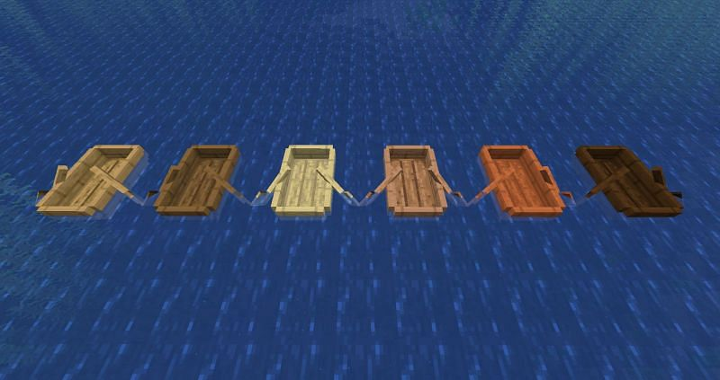 Boats prevent the player from having to swim across water (Image via Minecraft Fandom)
