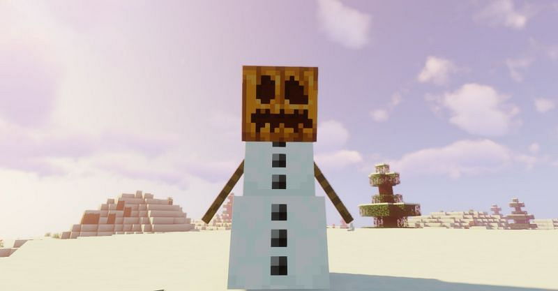 Snow Golems will hurl snowballs at any hostile mob in a nearby radius in Minecraft (Image via Minecraft)