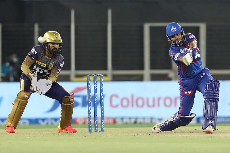 Prithvi Shaw smashed his third fifty of the season against KKR tonight [Credits: IPL]