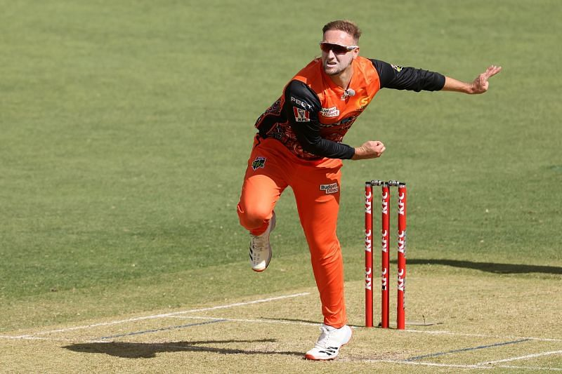 Liam Livingston in action for the Perth Scorchers