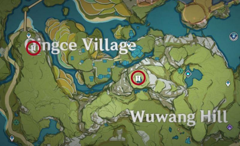 Genshin Impact Map: Fragment locations