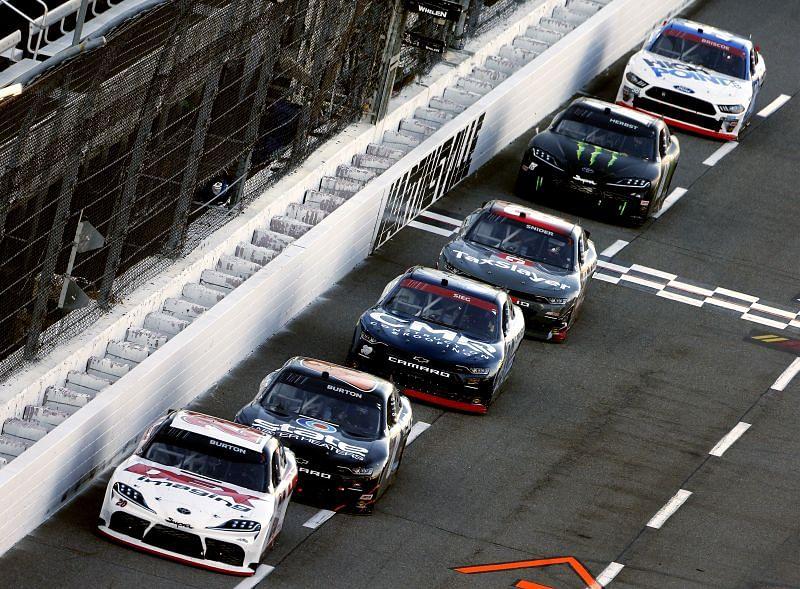 Harrison Burton currently sits third in NASCAR Xfinity Series points. Photo by Brian Lawdermilk/Getty Images