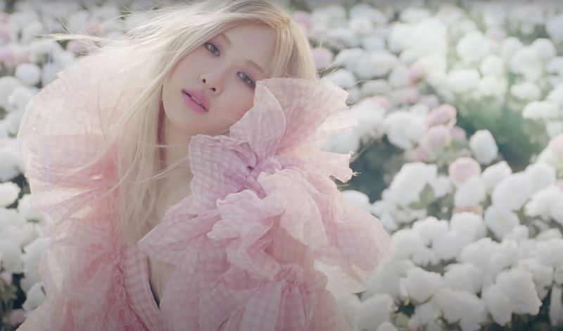 Rose in the music video for On The Ground (Image via YG Entertainment, YouTube)