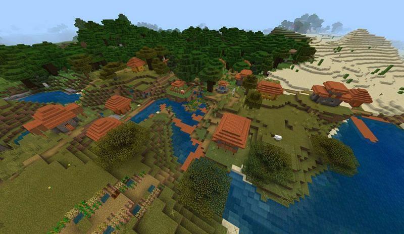 Dark oak and savannah Minecraft biomes (Image via progameguide)