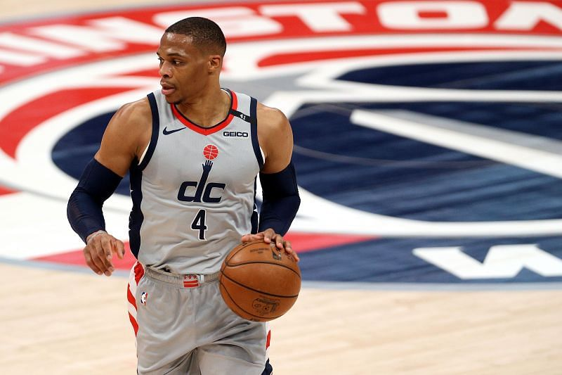 Russell Westbrook with the Washington Wizards.