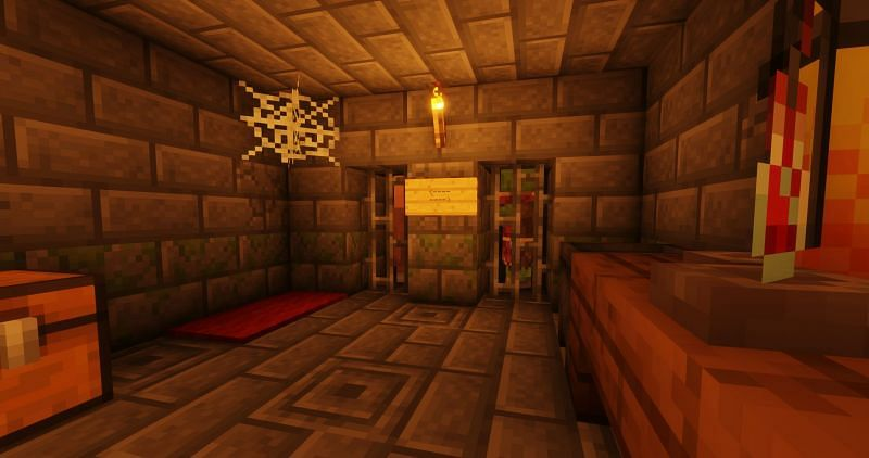 Shown: A secret basement. What types of tests are being done here? (Image via Minecraft)