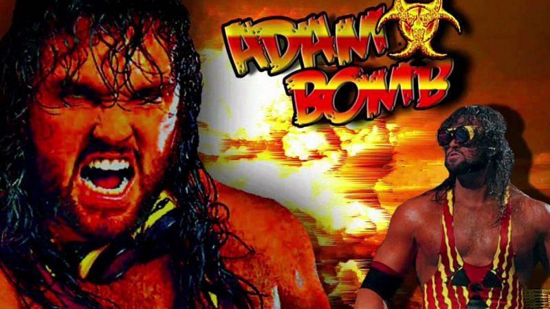 Bryan Clark in WWF as Adam Bomb