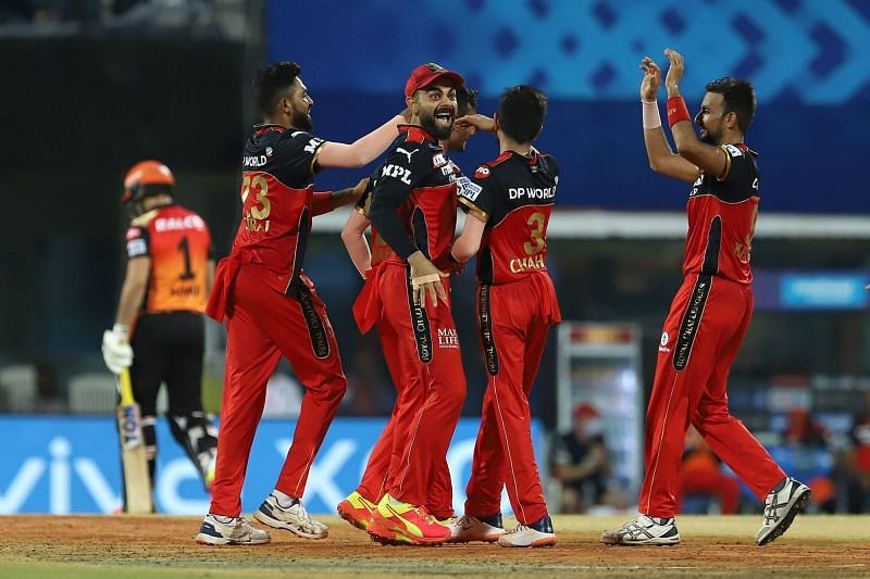 SRH lost three wickets in the 17th overs bowled by Shahbaz Ahmed [P/C: iplt20.com]