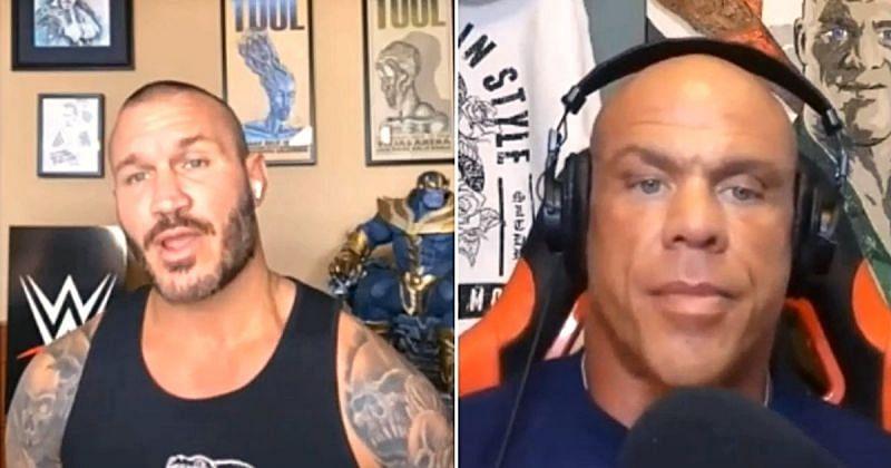 Randy Orton and Kurt Angle.