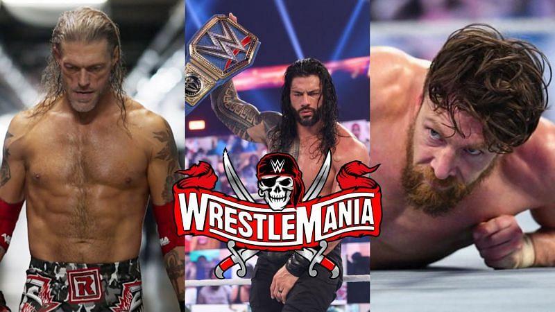 Edge, Roman Reigns, and Daniel Bryan.