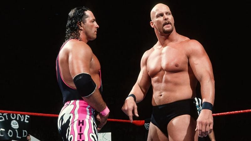 Bret Hart and Stone Cold Steve Austin (Credit: WWE)