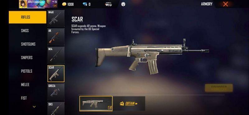Scar is a well-balanced AR