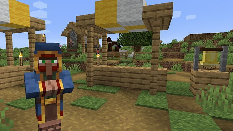 Wandering traders Minecraft (Image via Minecraft)